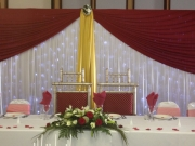 head table red