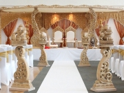 Gold and White Mandap 021