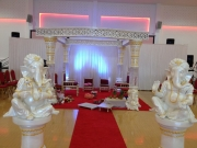 White Pattern Mandap